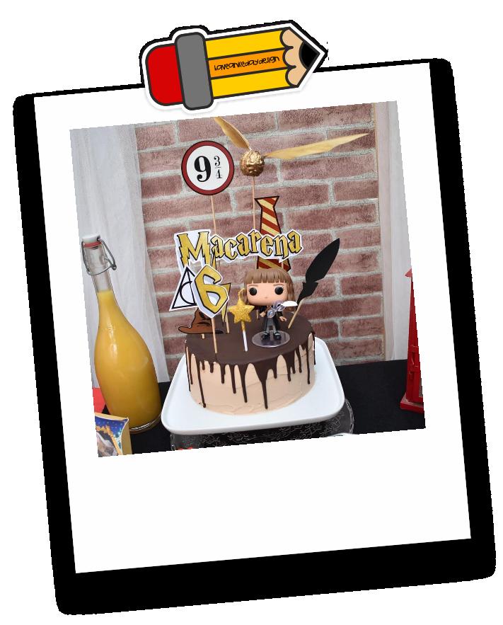 cómo preparar una fiesta temática de harry potter. la tarta y su decoración.